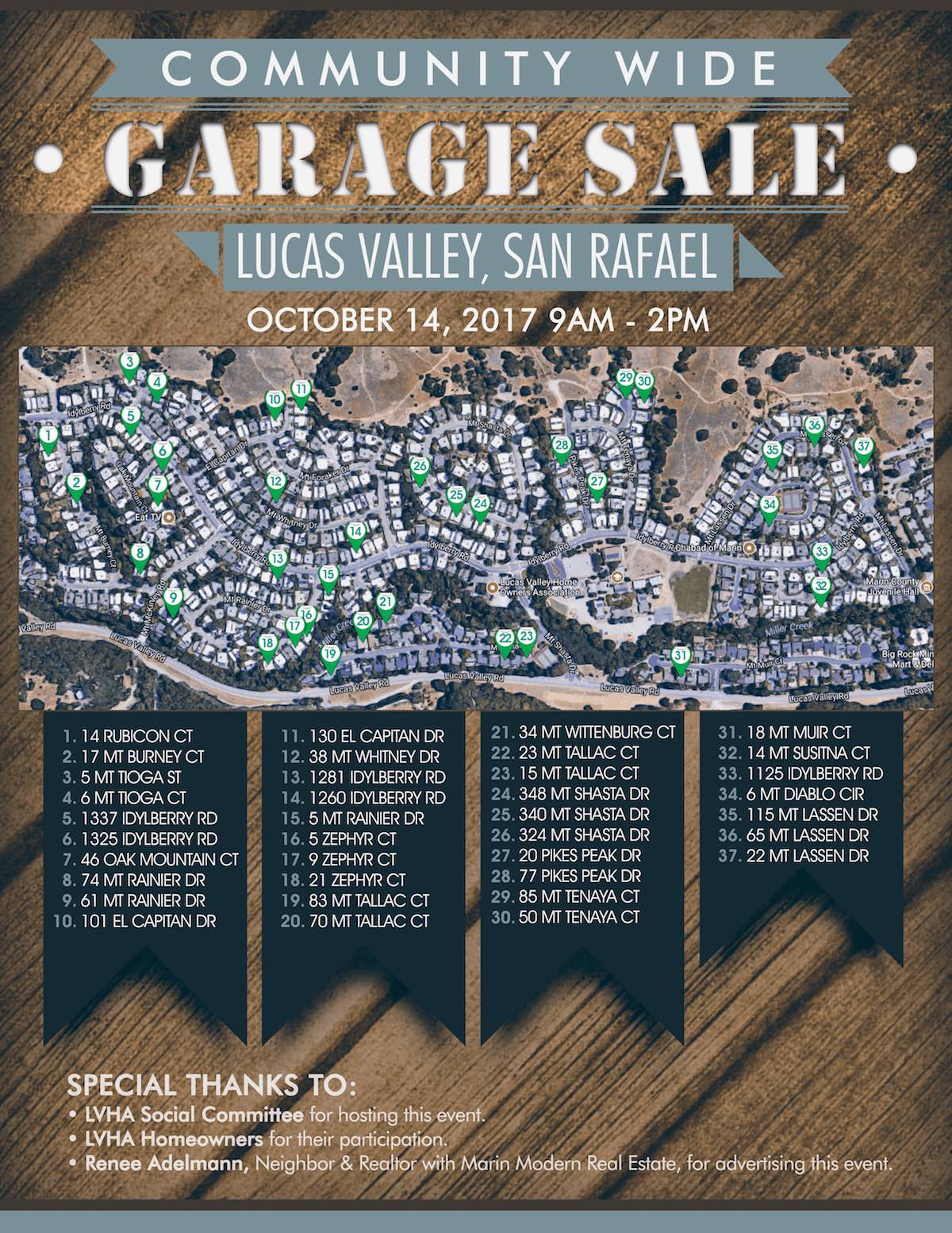 lucas valley garage sale