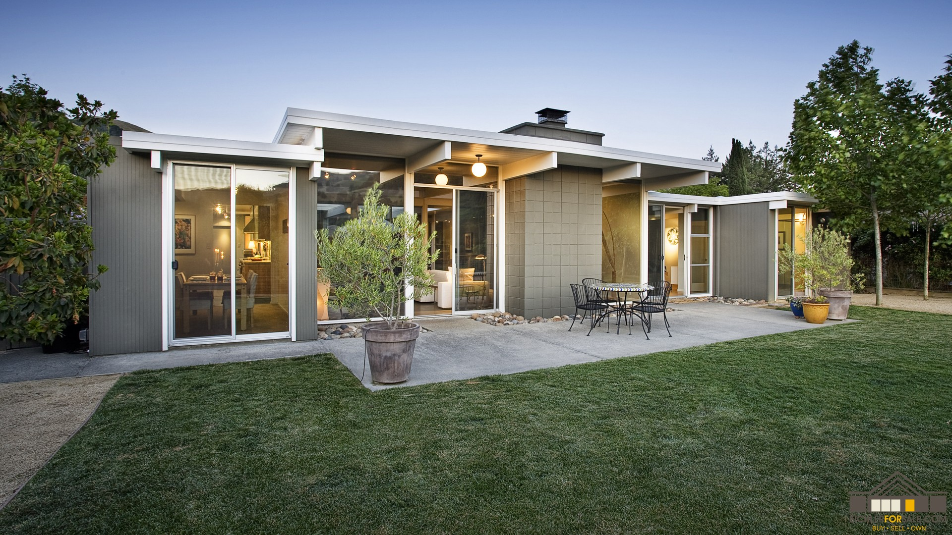 Landscaping eichler homes landscape mid century modern Century home builders
